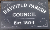 Hayfield Parish Council sign August 2015
